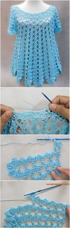 Broad Blouse Crochet Tutorial