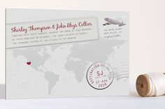 Love this for my Destination Wedding: A Faraway Destination Foil-Pressed Wedding Invitations by bumble ink at minted.com