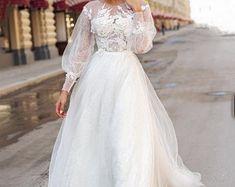 Women's Shoes | Etsy Cream Wedding Dresses, Tulle Wedding, Boho Wedding Dress, Mermaid Wedding, Open Back Wedding Dress, Long Sleeve Wedding, Wedding Dress Sleeves, Pastel Color Dress, Nice Dresses
