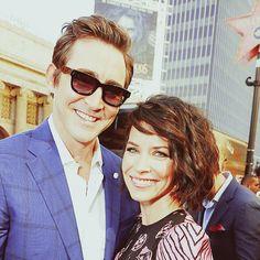 Lee with Evangeline. Hollywood Walk of Fame, 12/8/14.