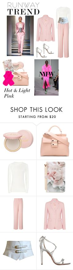 """""""Runway trends fall 17"""" by evagonzalez ❤ liked on Polyvore featuring Too Faced Cosmetics, Roger Vivier, Reiss, Ted Baker, DKNY, Altuzarra, Yves Saint Laurent, Aquazzura and Etro"""