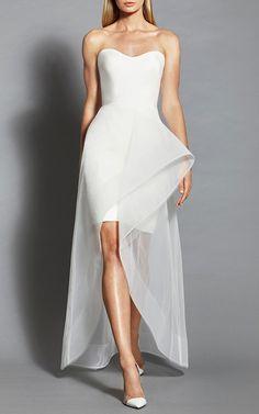 Sculpted Neckline Dress by ROMONA KEVEŽA for Preorder on Moda Operandi
