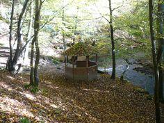 ..kleiner Pavillon direkt am Wasser, der super für eine kleine Pause geeignet ist...