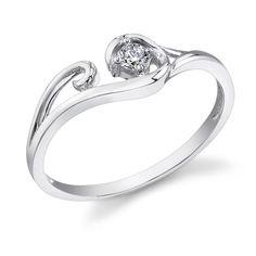 swirled rings | Diamond Swirl Ring