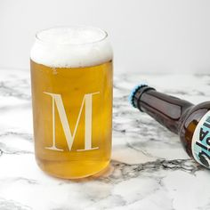A fantastic gift for a lover of all things beer! Designed in the shape of a can, this beer glass is a fun way for him to enjoy his favourtie tipple. Hand etched with initials. Made from glass. Holds up to of liquid. Personalised Gifts For Him, Personalized Wedding, Special Symbols, Silver Gifts, Wedding Anniversary Gifts, Paper Gifts, Fathers Day Gifts, Initials, 3 Characters
