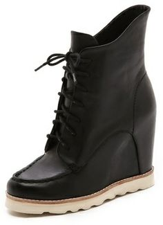 Matiko Cooper Lace Up Wedge Booties on shopstyle.com