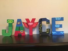 *** Each letter is $10*** Custom 8 inch Paper Mache Stand Alone letters (letters P and F will need mounting tape) These letters are perfect for any party and room décor. All letters are hand painted and made to order, ANY THEME CAN BE CREATED! Letters are hand-painted on both sides to