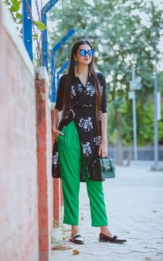 #Streetstyle fashion week india look book whatiwore  Floral look For more visit: Www.mscocoqueen.com