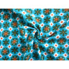 Stenzo tricot retro flower aqua/orange