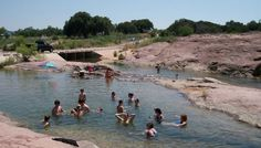 """""""The Slab"""" near Kingsland, Texas just before the Llano River meets with the Colorado River to form Lake LBJ."""