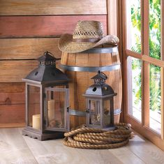 Set of Two Rustic Wood Centerpieces Stately Monticello Candle Lanterns Wooden Lanterns, Lanterns Decor, Candle Lanterns, Decorating With Lanterns, Candle Lamp, Decorating Ideas, Diy Rustic Decor, Rustic Design, Rustic Wood