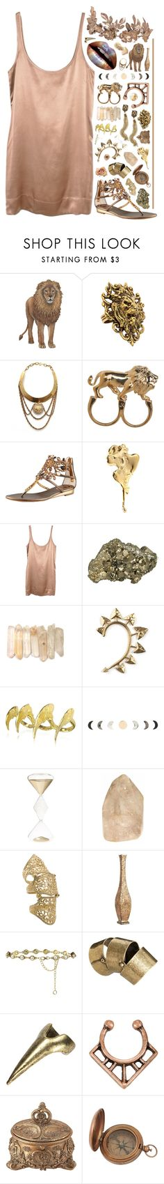 """l e o"" by shattered-tempest ❤ liked on Polyvore featuring Yochi, Stussy, René Caovilla, Jung Ee Eun, Jayson Home, Rachel Entwistle, Bjørg, Hot Topic, Zara Home and Loree Rodkin"