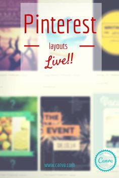 Introducing @Canva Pinterest layouts!