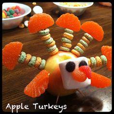 Fun Snacks 4 Kids: Apple Turkeys