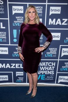 Vicki Gunvalson on Watch What Happens Live with Andy Cohen, December Navy Blue carpet runner provided by Red Carpet Entrances. Photos from Guest Dressed album. Courtesy of Bravo TV / NBCUni. Be sure to tune in for more celebrity appearances! Blue Carpet, Red Carpet Event, Vicki Gunvalson, Bravo Tv, Hallway Carpet Runners, Corporate Events, Navy Blue, Real Housewives, Elegant