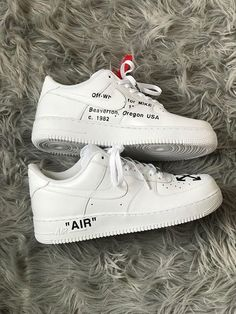 09d9a39848 Ron Holt on Mens Custom Air Force 1 with Off White design complete with Red  safety tag. Nike Tick removed and hand sewn on.K sizes available.
