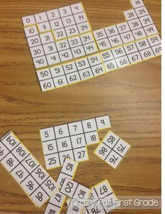 Teaching math to my first graders at the beginning of the year involves a lot of modeling routines, procedures, and new games/activities. We start off by focusing on numeration- identifying and count Math Classroom, Kindergarten Math, Teaching Math, Classroom Ideas, Teaching Ideas, Future Classroom, First Grade Games, 1st Grade Math, Grade 1