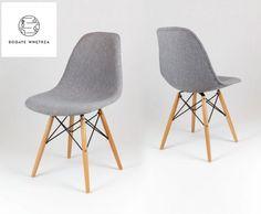 Krzesło tapicerowane szare Melange