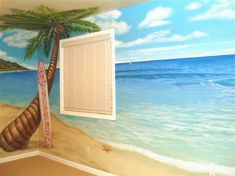Beach mural design
