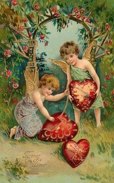 Items similar to Arbor of Love Vintage Image Valentine's Day Note Card Victorian Edwardian Love Note - Valentinstag Karten Victorian Valentines, Vintage Valentine Cards, Vintage Greeting Cards, Vintage Holiday, Valentine Day Cards, Vintage Postcards, Images For Valentines Day, My Funny Valentine, Valentines Greetings
