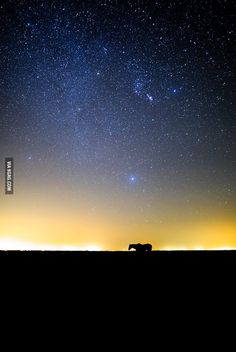 A long exposure in the middle of New Mexico - 9GAG