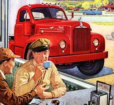 Plan59 :: Classic Truck Art :: 1955 Mack Thermodyne Diesels