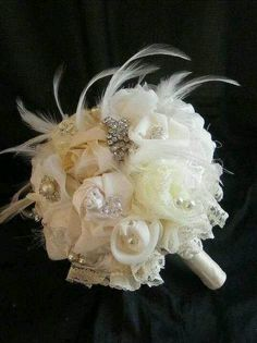 Feathers will match my vintage veil