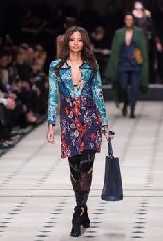 Pin for Later: Burberry Brings Back Boho With a Riot of Patchwork and Prints Burberry Autumn/Winter 2015