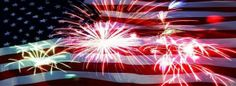 4th of July 2014 Facebook FB Timeline Covers Photos, Fireworks with USA Flag