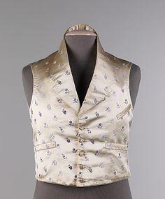 Vest, Evening  Date: 1830–35 Culture: American Medium: silk, cotton