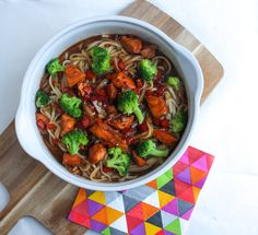 teriyaki zalm noedels Kung Pao Chicken, Ratatouille, Healthy Recipes, Healthy Food, Broccoli, Rolls, Couscous, Dinner, Ethnic Recipes