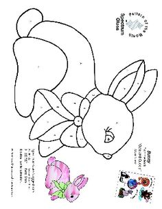 Free Stained Glass Pattern 2327-Bunny