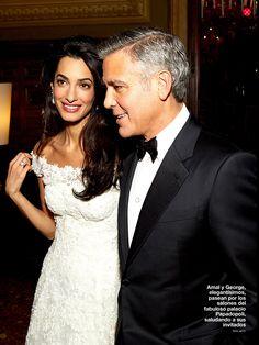 Amal Alamuddin and George Clooney wedding pictures in Hola magazine George Clooney Wedding, Amal Alamuddin Style, Venetian Wedding, Amal Clooney, Wedding Day Inspiration, Girls Wardrobe, Prom Dresses, Formal Dresses, Wedding Dress Styles