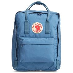 Fjallraven 'Kanken' Water Resistant Backpack (979.485 IDR) ❤ liked on Polyvore featuring bags, backpacks, blue ridge, rucksack bags, fjallraven rucksack, water resistant backpack, water resistant bag and fjällräven