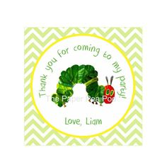 The Very Hungry Caterpillar Birthday Party Favor Tags