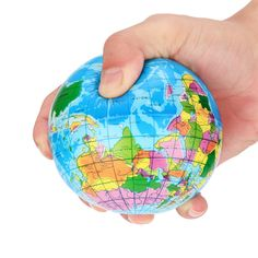 Stress Relief World Map Foam Ball Atlas Globe Palm Ball Planet Earth Ball. Yesterday's price: US $1.64 (1.35 EUR). Today's price: US $0.92 (0.76 EUR). Discount: 44%.
