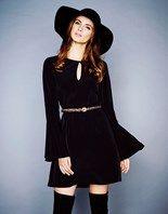 Lipsy Bell Sleeve Skater Dress