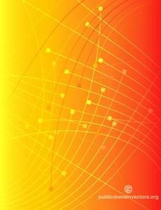 Orange Background With Abstract Lines