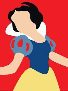 Snow White - Minimalist Art Print Adrian Mentus
