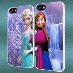 Anna and Elsa Waterfall Disney Frozen Couple Custom Case iPhone Case,Samsung Galaxy Case For iPhone 4,4s,5,5s,5c,6 Galaxy s3,s4,s5 by Hoodiefield on Etsy https://www.etsy.com/listing/208127097/anna-and-elsa-waterfall-disney-frozen
