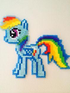 My Little Pony - Rainbow Dash perler beads by missxbebe