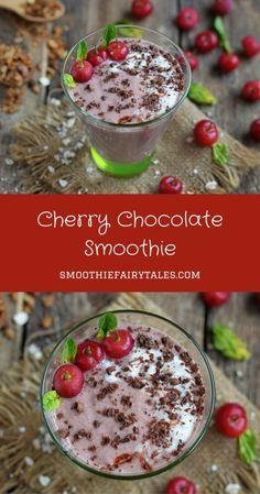 Cherry Chocolate Smoothie Pinterest