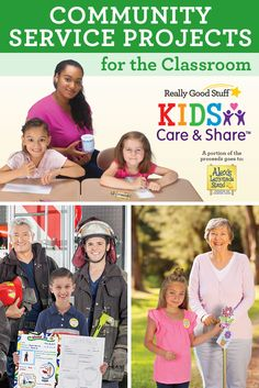 Kids Care & Share: community service projects for the classroom. Choose from 5 craft projects + portion of proceeds goes to Alex's Lemonade Stand. Teach kindness, giving and thankfulness. Students give completed projects to service workers, nursing homes, or heroes.