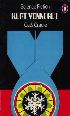 "design-is-fine: ""David Pelham, book cover for Cats Cradle by Kurt Vonnegut, Penguin Science fiction. Sci Fi Authors, Sci Fi Books, My Books, Book Cover Design, Book Design, 70s Sci Fi Art, Vintage Penguin, Management Books, Kurt Vonnegut"