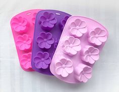 C031- HOT ITEM!! 6-cavity Frangipani  large flower shaped silicone molds moulds chocolate cake jelly soap mold embeds