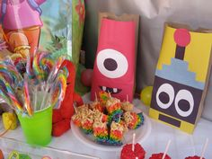 Awesome Yo Gabba Gabba party I attended yesterday! Loved the goodie bags, DJ Lance Rock & the sweets!