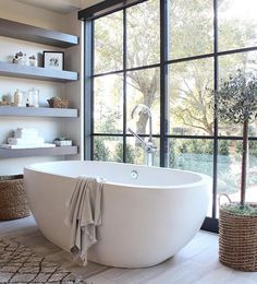 """547 Likes, 6 Comments - Native Trails (@nativetrails) on Instagram: """"Our Avalon tub in Pearl in this intensely cool bathroom by @hommeboys (@get_repost) ・・・ Ok, I know…"""""""
