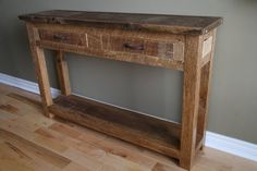 Custom Made Reclaimed Barnwood Console Table