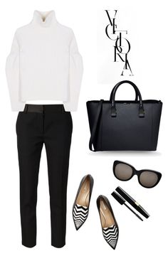 """Victoria Beckham"" by thestyleartisan ❤ liked on Polyvore featuring Victoria Beckham and Nicholas Kirkwood"
