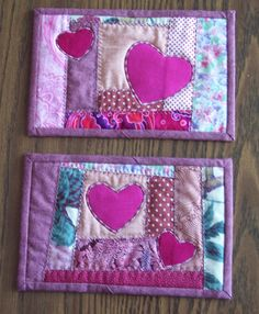 Quilted Heart Mug Rugs